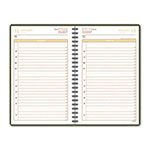 At-A-Glance Harrison Daily Appointment Book, 12 Month, One Week Day/Page, 4-7/8 x 8, Brown