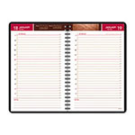At-A-Glance Bordeaux Daily Appointment Book, 12 Month, One Week Day/Page, 4-7/8 x 8, Red