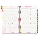Day Runner Watercolors Weekly/Monthly Planner, 5-1/2 x 8-1/2, Floral Cover/Beige Pages