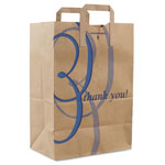 "Duro Stock Thank You Handle Bags, 12""w x 7""d x 17""h, Brown Kraft"