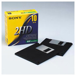 "Sony 3.5"" Diskettes, IBM Format, DS/HD, 10/Box"