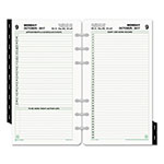 Daytimer Reference Dated Two-Page-per-Day Organizer Refill, 3 3/4 x 6 3/4, 2017