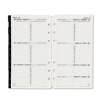 Daytimer Dated Two-Page-per-Week Organizer Refill, January-December, 3-3/4 x 6-3/4, 2015