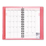 Daytimer Pink Ribbon Pocket Monthly Planner, 14 Month, 3-1/4 x 6-1/8, Pink