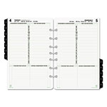 Daytimer Dated One-Page-per-Day Organizer Refill, January-December, 5 1/2 x 8 1/2, 2017