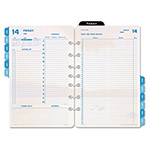 "Daytimer Coastlines Dated Two-Page-per-Day Organizer Refill, 5 1/2""x8 1/2"""