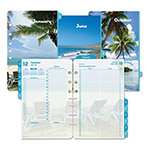 Daytimer Two-Page-Per-Day Coastlines Refill, 5 1/2 x 8 1/2, 2016