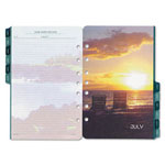 Daytimer Coastlines Dated Two-Page-Per-Month Organizer Refill, 5-1/2 x 8-1/2