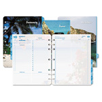 Daytimer Coastlines Dated Two-Page-per-Day Organizer Refill, 8-1/2 x 11, 2015