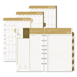 Daytimer Sandalwood Two-Page-Per-Day Planner Refill, 5 1/2 x 8 1/2, 2017