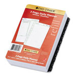 Daytimer Reference Dated Two-Page-per-Day Organizer Refill, Jan.-Dec., 5-1/2 x 8-1/2