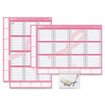 "Daytimer Yearly Erase Wall Calndr,12Mth Jan-Dec,26""x38-3/4"",PK Ribbon"