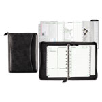 "Daytimer Woven Look Starter Set Organizer, Simulated Leather, 5-1/2""x8-1/2"", Black"