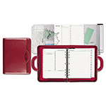 "Daytimer Attach' Style Starter Set Organizer, 3-Ring, Simulated Leather, 8-1/2""x11"", Red"