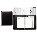 Daytimer Aristo Bonded Leather Starter Set, 5 1/2 x 8 1/2, Black