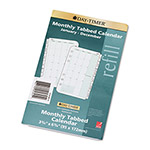 "Daytimer Dated Two-Page-per-Month Organizer Refill, January December, 3 3/4""x6 3/4"""