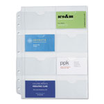 Daytimer® Business Card Holders for Folio Size Looseleaf Planners, 8 1/2 x 11, 5/Pack
