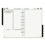 Daytimer Reference Dated Two-Page-per-Day Organizer Refill, 5 1/2 x 8 1/2, 2017