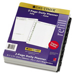 Daytimer Dated Two-Page/Day Academic Organizer Refill, July-June, 8-1/2 x 11