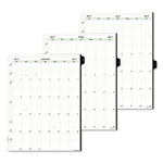 Daytimer Original Two-Page-Per-Day Refill, 8 1/2 x 11, White/Green, 2017