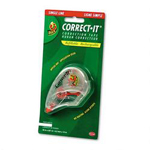 "Manco Correct It® Correction Tape in Refillable Dispenser, 1 Line, 1/6"" x 550"", White"