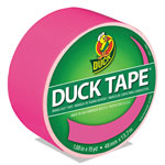 "Henkel Consumer Adhesives Colored Duct Tape, 1.88"" x 15 yds, 3"" Core, Neon Pink"