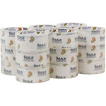 "ShurTech Brands LLC MAX Packaging Tape, 1.88"" x 54.6 yds, 3"" Core, Crystal Clear, 18/Pack"