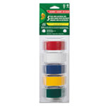 "ShurTech Brands LLC Electrical Tape, 3/4"" x 12 ft, 1"" Core, Assorted"