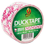 "ShurTech Brands LLC Hello Kitty DuckTape, 1.88"" x 10 yds, 3"" Core, Pink/White"