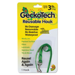 ShurTech Brands LLC GeckoTech Reusable Hooks, Plastic, 3 lb Capacity, Clear, 1 Hook