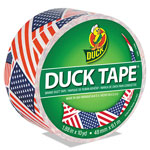"Duck® Colored Duct Tape, 1.88"" x 10 yds, 3"" Core, US Flag"