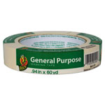 "Duck® General Purpose Masking Tape, 0.94"" x 60 yds, Beige, 36/Pack"