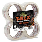 "T-REX® Packaging Tape, 1.88"" x 35 yds, Crystal Clear, 4/Pack"