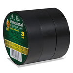 "ShurTech Brands LLC Pro Electrical Tape, 3/4"" x 50 ft, 1"" Core, Black"