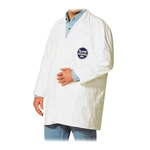 Dupont Lab Coat, Snap Front/Open Wrist, Medium, 30/CT, White