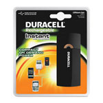 Duracell Lithium Charger, Instant, 35hrs Backup Pwr, BK/GD