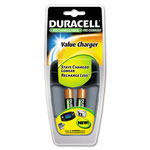 Durable Durable Value Charger, 2 Precharged Rechargeable AA NiMH Batteries
