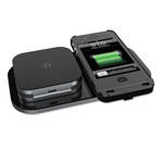 Duracell 24-Hour PowerMat Kit for iPhone 4/4S, 1850 mAh, Black
