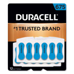Duracell Button Cell Hearing Aid Battery #675, 12 per Pack