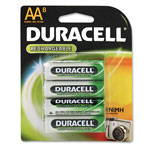 Duracell DC1500B8N Rechargeable NiMH Batteries, 2450mAH, AA Size, 8 Batteries per Pack