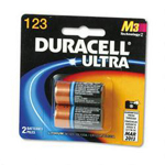 Duracell DL123AB2BPK Coppertop® Lithium Batteries, Photos, 2/Pack, 3V