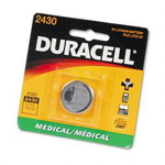 Duracell DL2430BPK Lithium DL2430 Button Cell Battery For Electronics, 3V, 1 Each