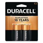 Durable Coppertop Alkaline Batteries, C, 2 per Pack