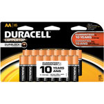 Duracell Coppertop Alkaline Batteries, Resealable, AA, 16/Pack