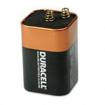 Duracell MN908 Coppertop® Alkaline Battery for Flashlights, Lanterns, 1/Pack, 6V