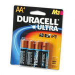 Duracell MX1500B4Z Ultra Digital Batteries for Photo/Electronic Devices, 4 Batteries per Pack, AA