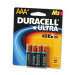 Duracell MX2400B4Z Ultra Digital Batteries for Photo/Electronic Devices, 4 Batteries per Pack, AAA
