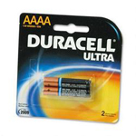 Duracell MX2500B2PK Ultra Digital Batteries for Photo/Electronic Devices, 2 Batteries per Pack, AAAA