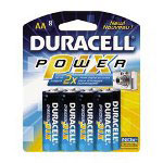 Duracell NX1500B8Z Batteries, Power Pix™, AA, 8/Pack