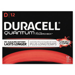 Duracell Quantum Alkaline Batteries with Duralock Power Preserve Technology, D, 72/Pk